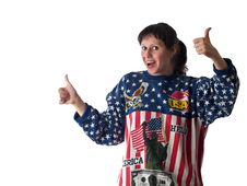 Patriotic Lady Stock Photography