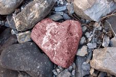 Free Pink Stone Heart Stock Images - 5611104