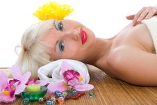 Free Portrait Of The Nude Blonde With Blue Eyes Stock Photo - 5611410