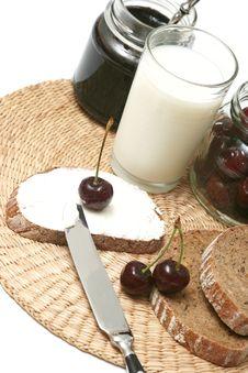 Free Cherry Breakfast Royalty Free Stock Image - 5612956