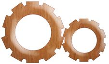 Free Company Logo - Wood Mechanism Gear-Driven Wheels Stock Photo - 5613310