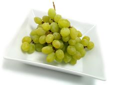 Fresh Bunch Of Grapes In White Bowl Royalty Free Stock Images
