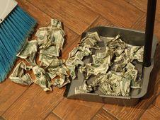 Free Money Sweep 7 Stock Photo - 5613990