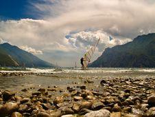 Free Windsurfing Lake Garda Stock Photos - 5614013