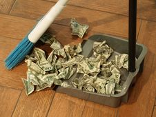 Free Money Sweep 9 Stock Photography - 5614022