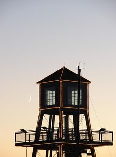 Free Moon On Tower 2 Stock Photography - 5614242