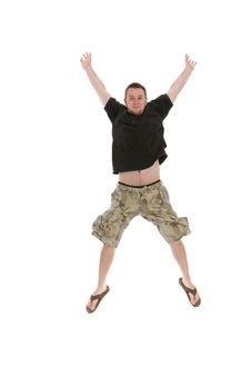 Free Jumping Man Royalty Free Stock Photo - 5614985