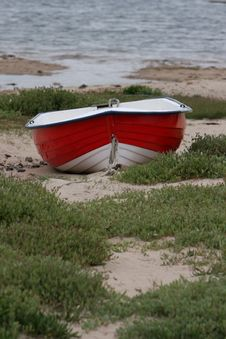 Free Little Red Boat Royalty Free Stock Photo - 5615485