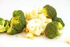 Broccoli And Cauliflower Royalty Free Stock Photography