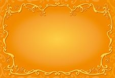 Free Decorative Orange Frame Royalty Free Stock Photo - 5616455