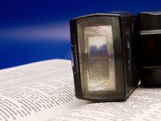 Free Flash On Book Stock Image - 5616811