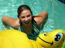 Free Girl In Pool Royalty Free Stock Image - 5617346
