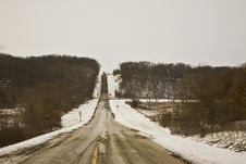 Free Brimfield Jubilee Road In Winter 08 Royalty Free Stock Photo - 5617695