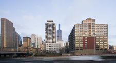 Downtown Seen From West Side Stock Photo