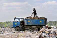Free Trash Pickup On The Dumping Ground Garbages Stock Photos - 5619153