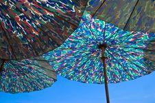 Free Blue Parasols Royalty Free Stock Photo - 5619535
