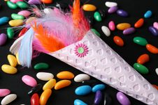 Free Feather Confetti Stock Images - 5619684
