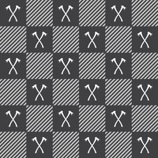 Free Lumberjack Vector Plaid Pattern With Axes Stock Photo - 56149500