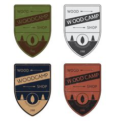 Set Of A Color Badges In Vintage Style Stock Image