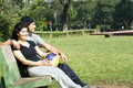 Free Man And Woman On A Park Bench - Horizontal Royalty Free Stock Photos - 5624638