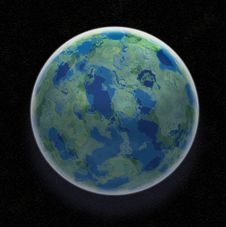 Free Earth Like Planet Royalty Free Stock Photos - 5620018