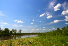 Free Summer Landscape With River Stock Photography - 5620092
