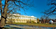 View Of The Park And Classical Buildings In Winter Royalty Free Stock Photography