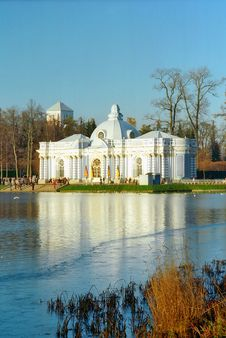 Free Iced Lake With Classical Building Stock Photography - 5621362