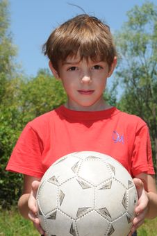 Free Boy With Ball Royalty Free Stock Image - 5621476