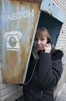 Free Upset Girl With Street Phone 2 Stock Photography - 5621562