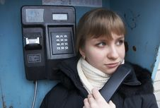 Free Upset Girl With Street Phone 3 Stock Photos - 5621573
