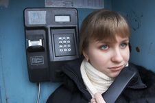 Free Upset Girl With Street Phone 7 Royalty Free Stock Images - 5621619