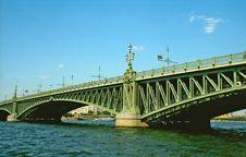 Bridge Over Neva River Royalty Free Stock Image