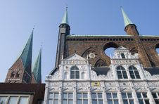 Free Old Facades In Luebeck, Germany Stock Photo - 5621750