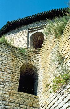 Free Embrasures Of Old Fortress Royalty Free Stock Photo - 5622405