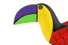 Free Isolated Brightly Colored Handcarved Wooden Toucan Royalty Free Stock Photos - 5622508
