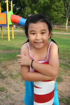 Free Girl At Playground Royalty Free Stock Image - 5623156