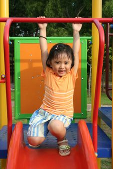 Free Girl On The Slides Royalty Free Stock Photography - 5623497