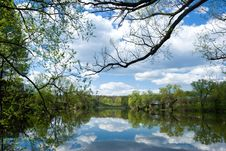 Free Clouds Over Pond Stock Images - 5623694