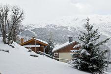 Ski Resort After Snow Storm Stock Images
