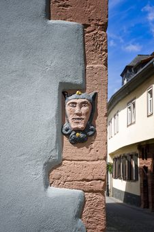 Free Stone Face In Old Building Stock Images - 5624244