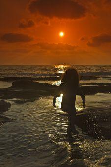 Free Girl Sunset Stock Photos - 5624403