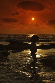 Free Girl Sunset Stock Photo - 5624530