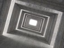 Free Fine Image 3d Of Concrete Tunnel And Lateral Light Royalty Free Stock Image - 5624696