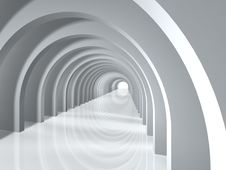 Arc Tunnel Royalty Free Stock Photography