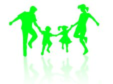 Jumping Family Stock Image