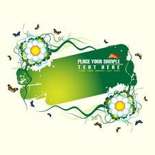 Free Green Floral Banner Royalty Free Stock Photography - 5626927