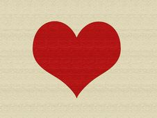 Free Linen Heart Royalty Free Stock Image - 5627626