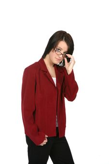 Free Young Woman In Business Casual Attire Stock Photos - 5628263