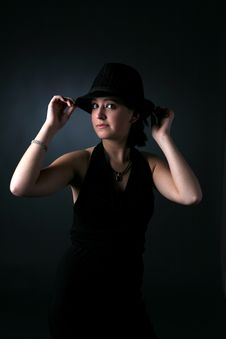 Free Dramatic Top Hat Teen Stock Image - 5628331